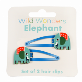 Rex London Wild Wonder Hair Clips (Elephant)