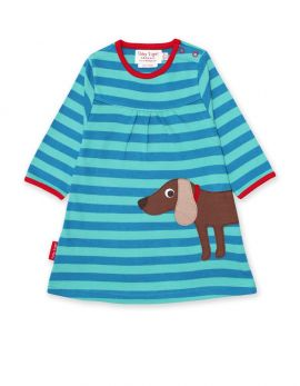 Toby Tiger Applique Dress (Sausage Dog)