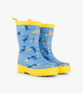 Hatley Fire Breathing Dragons Wellies