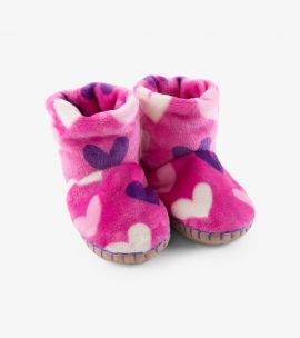 Hatley Multi Hearts Fleece Slippers