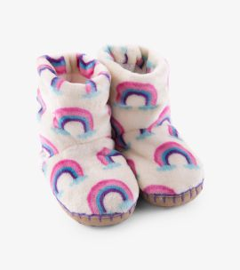 Hatley Pretty Rainbows Fleece Slippers