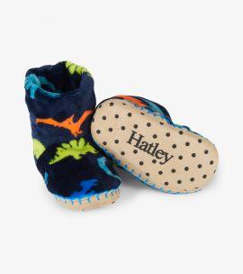 Hatley Fleece Slippers (dino herd)