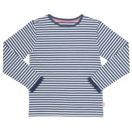 Kite Long Sleeve T-Shirt (navy/cream stripe)