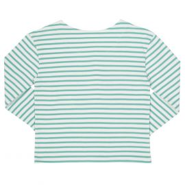 Kite Long Sleeve T-Shirt (Breton Heart) green/cream
