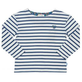 Kite Long Sleeve T-Shirt (Breton Heart) navy/cream