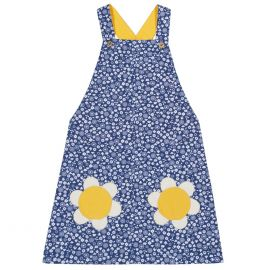 Kite Pocket Pinafore Dress (navy/daisy)