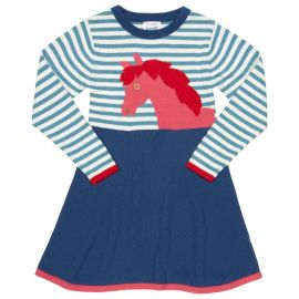 Kite Pony Knit Dress (Organic Cotton)