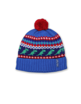 Toby Tiger Dino Fairisle Knitted Hat