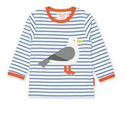 Toby Tiger Seagull applique long sleeved t-shirt