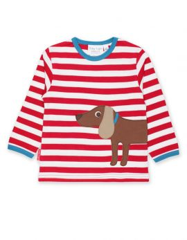 Toby Tiger Applique T-Shirt (Sausage Dog)