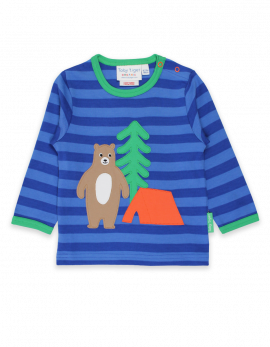 toby tiger T-Shirt (applique camping bear)