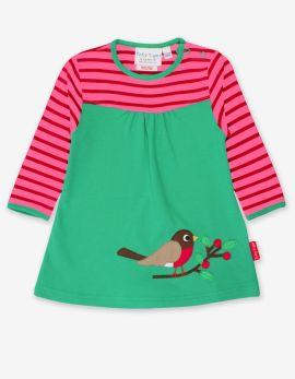 Toby Tiger Applique Dress (pink robin)