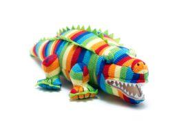 Toy - multi-striped Crocodile