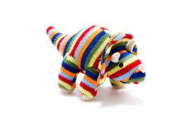 Toy - colourful stripe Triceratops