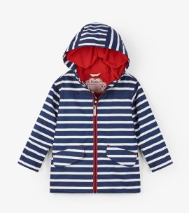 Hatley Raincoat (navy stripe)