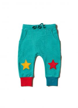 Little Green Radicals Joggers (Peacock Blue Star)