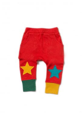 Little Green Radicals Joggers (Red Star)