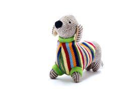 Toy - multi-striped Sausage Dog