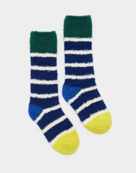 Joules Fluffy Socks - Navy